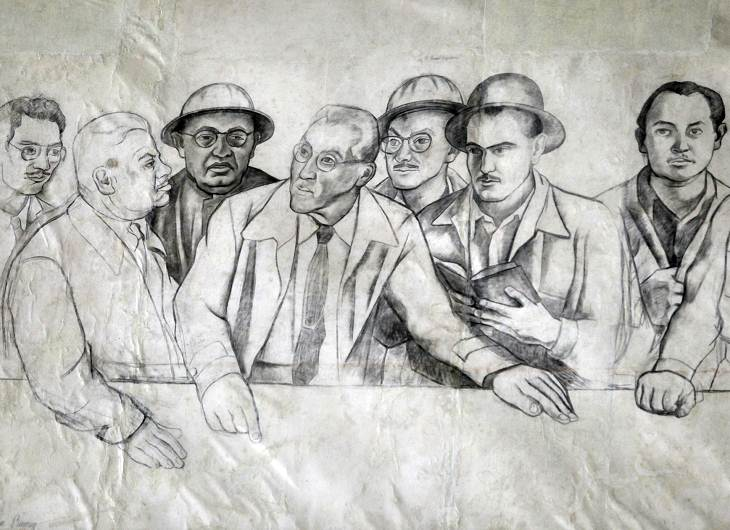 Rescatan bocetos del mural destru do de diego rivera for Diego rivera lenin mural